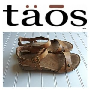 Taos Tan Leather Sandals